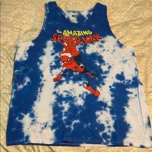 Marvel Amazing Spider-Man Tie Dye Tank Top 2XL